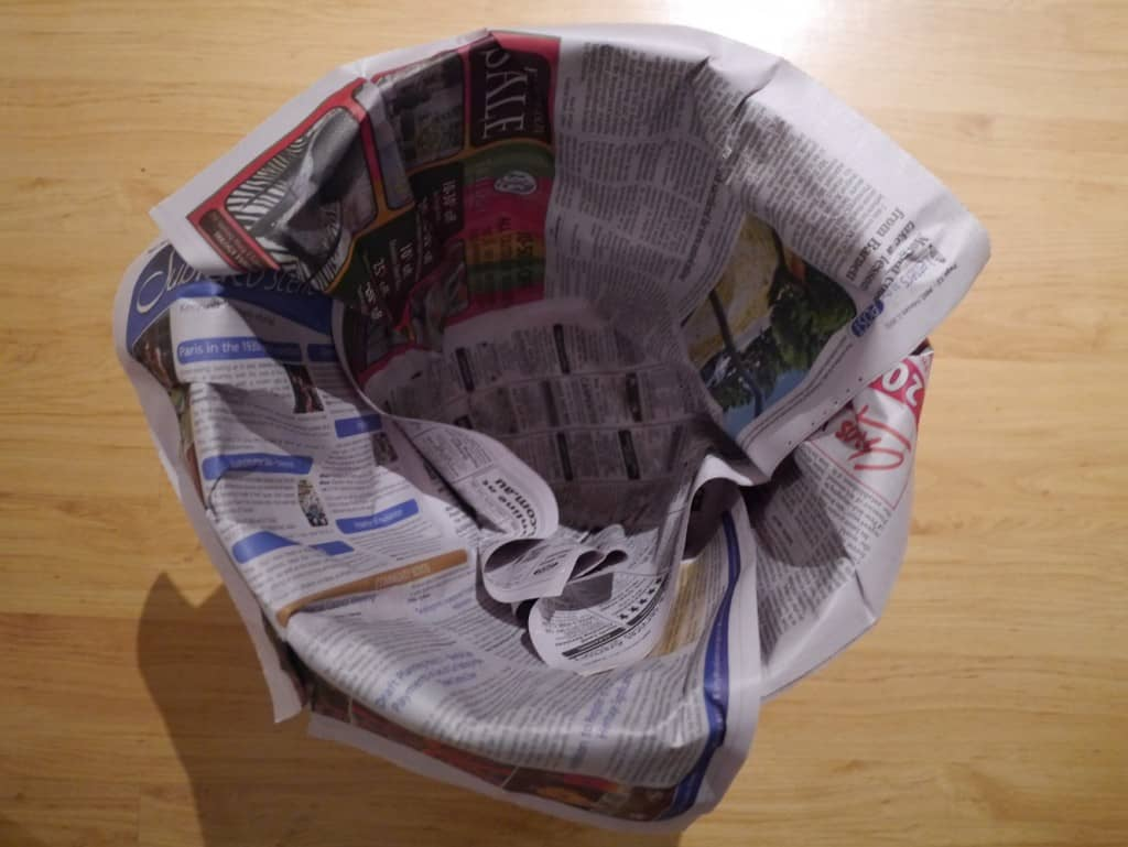 How To Line Your Bin Without Plastic Bags Treading My