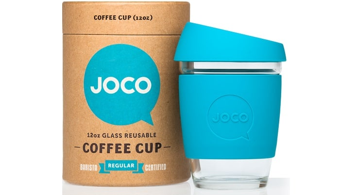 The JOCO cup: a reuseable coffee cup made from glass