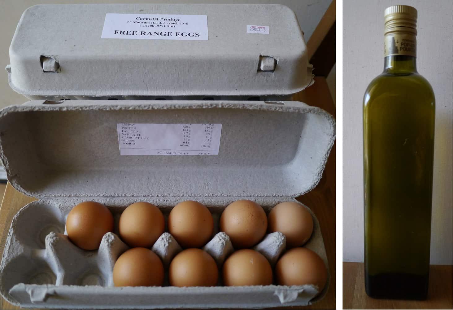 eggs oil