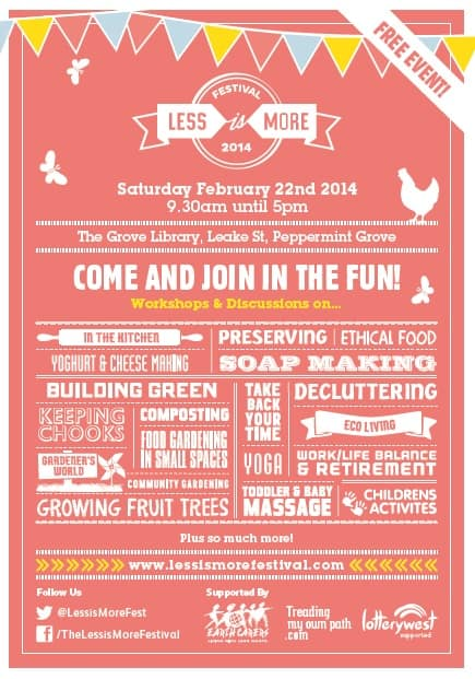 The Less is More Festival is (more or less) over…