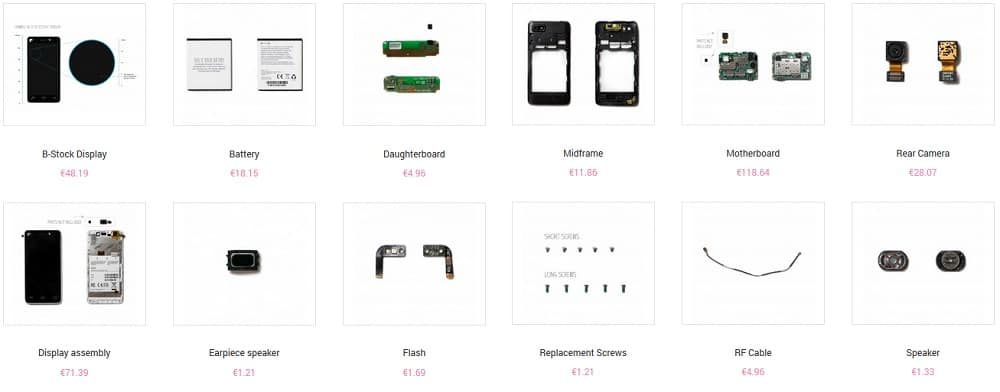 Fairphone Spare Parts