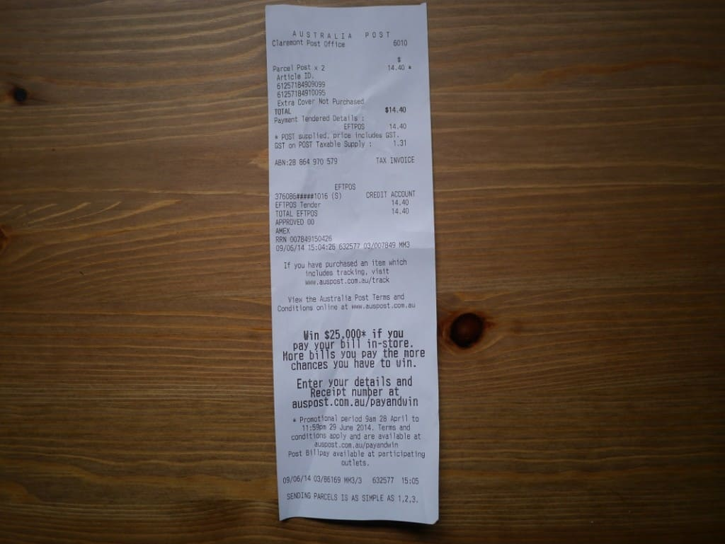 Thermal Receipt BPA