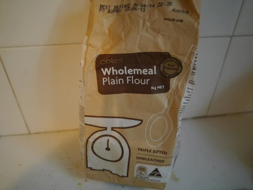 empty flour bag