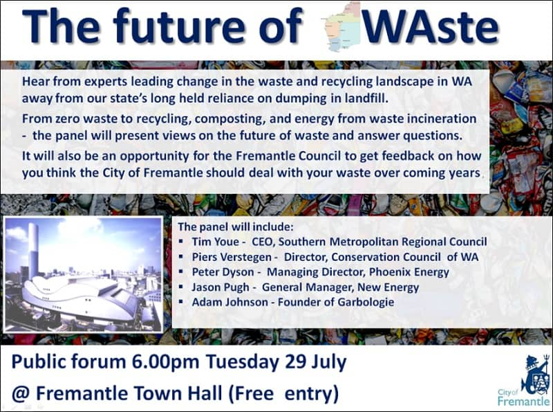 Waste Forum Freo Event Poster
