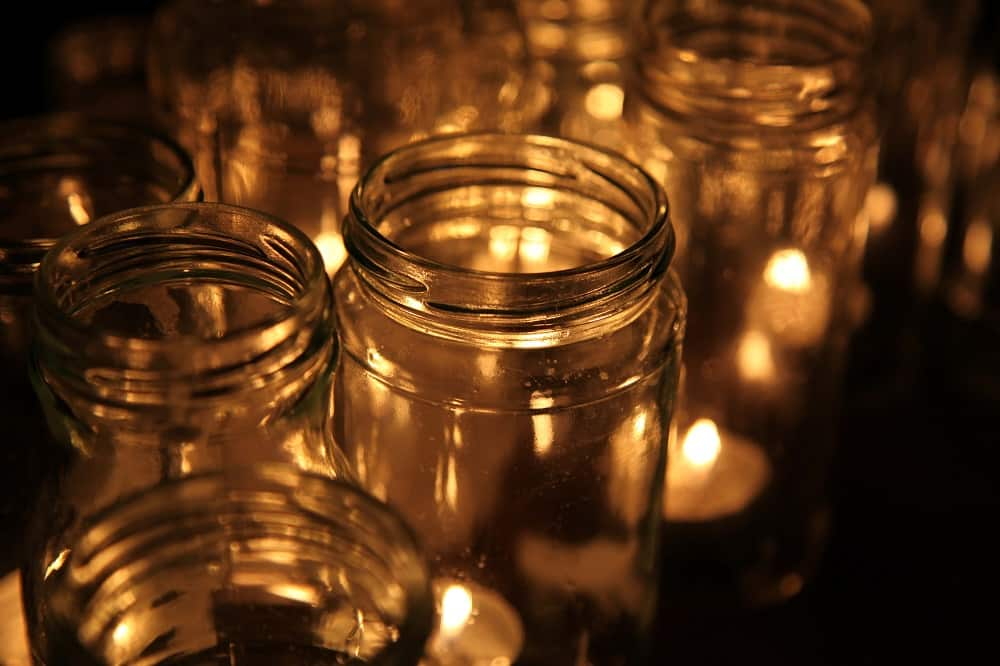 How to Get Candle Wax out of Glass Jars