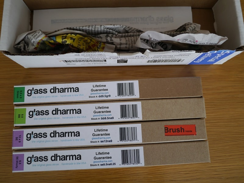 GlassDharma plastic free drinking straws plastic-free packaging