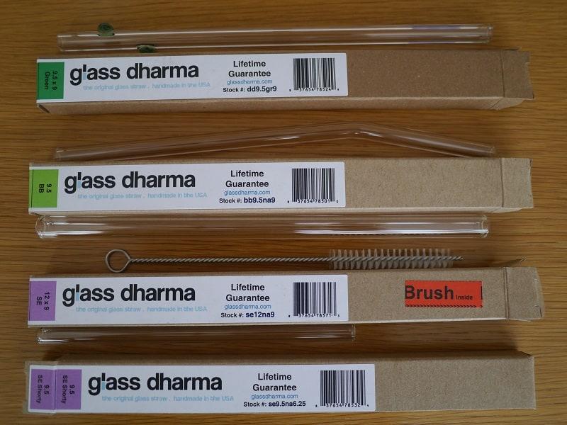 GlassDharma plastic-free drinking straws
