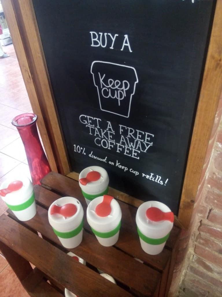 Faversham cafe Reusable Keepcups