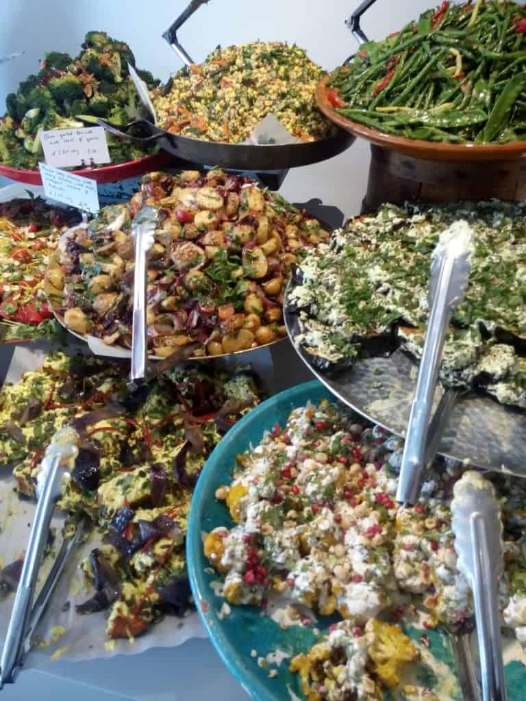 Ottolenghi London salad selection