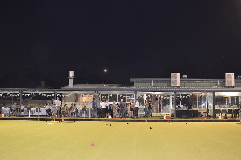 Bowling Club nighttime