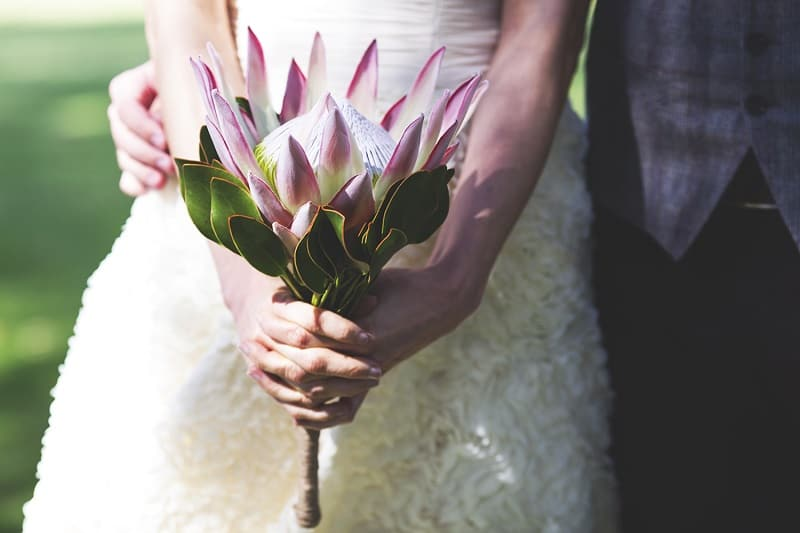 Giant Protea Wedding Bouquet