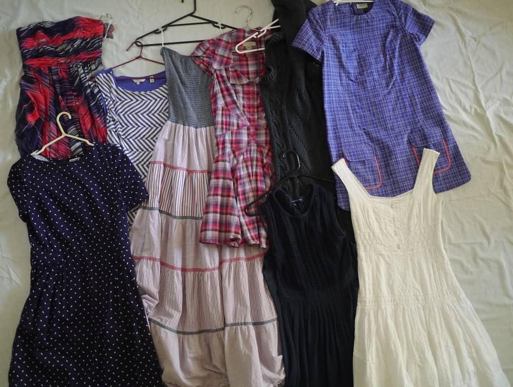 Decluttering Wardrobe Minimalism Dresses October 2015