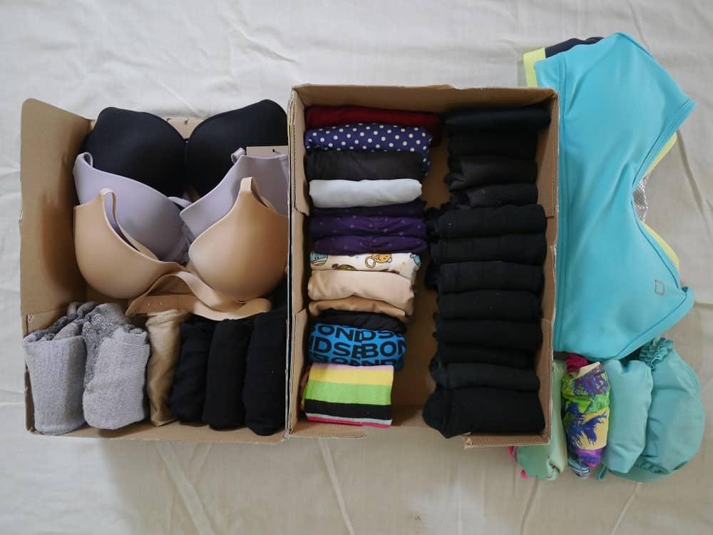 Wardrobe Minimalism Marie Kondo Folding October 2015