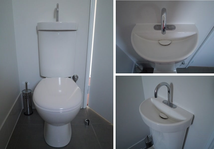 Toilet Cistern with Integrated Basin Combined Pics Sustainable Home Green Swing