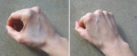 Rubbing Non Nano Zinc Oxide Sunscreen into the Skin