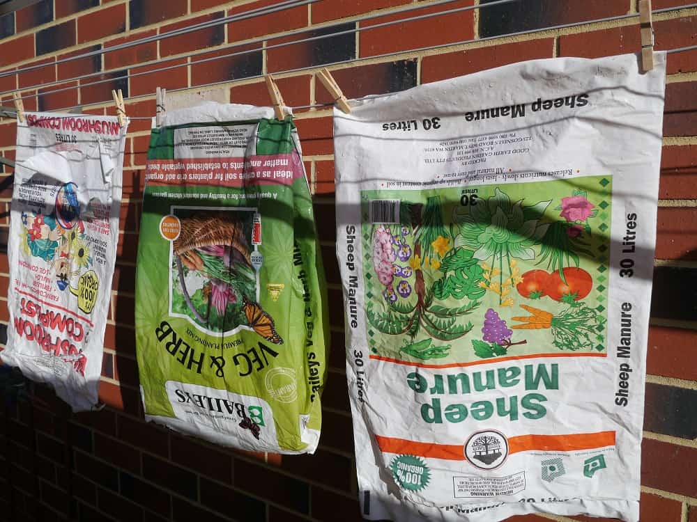 Cleaning plastic potting mix bags Treading My Own Path