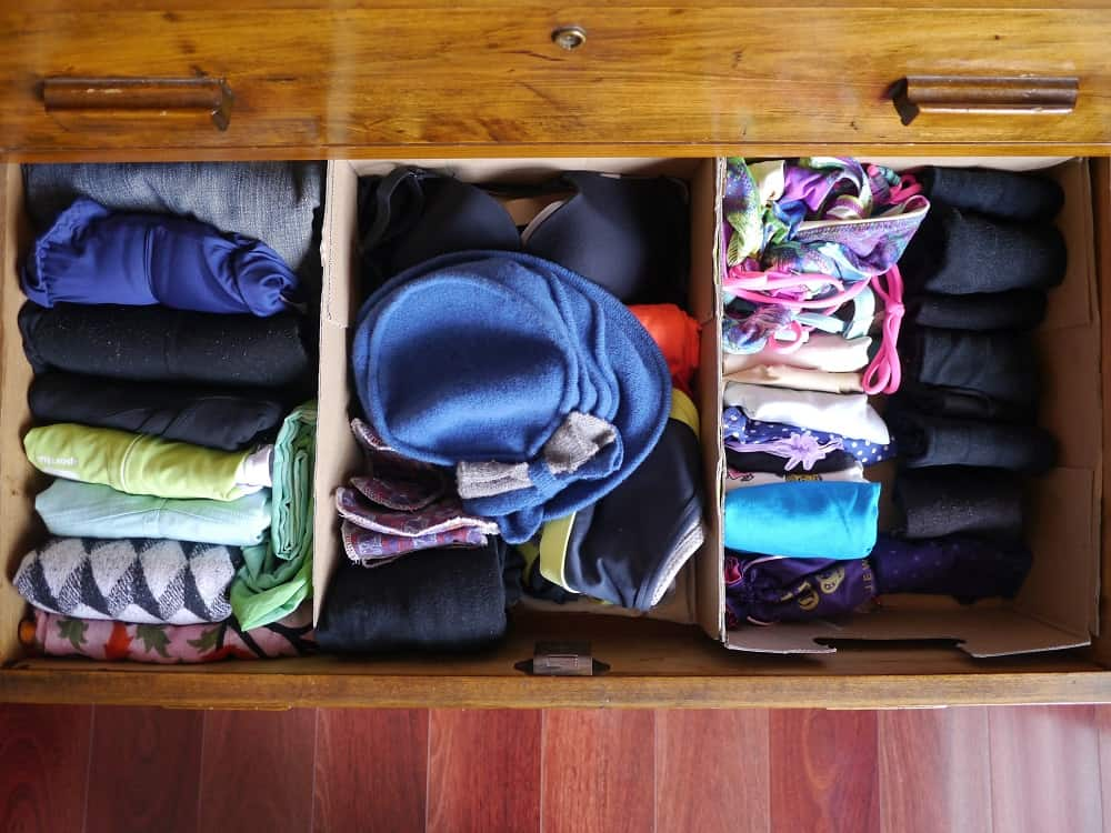 Wardrobe Decluttering Drawers Treading My Own Path August 2016 1000px