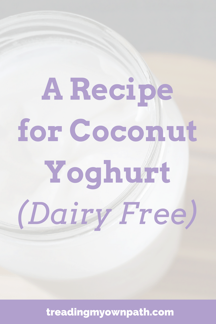 A Recipe for Coconut Yoghurt (Dairy Free) | Treading My Own Path | Zero Waste + Plastic-Free Living. Plant based yoghurt, vegan yogurt recipe, coconut milk yoghurt, coconut yogurt, vegan recipe ideas, plant powered recipe, living with less waste. More at https://treadingmyownpath.com