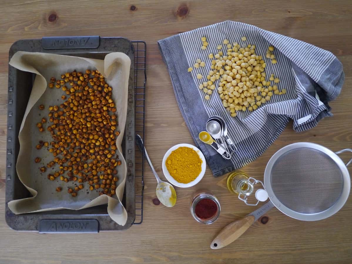 Oven-Roasted Chickpeas – a plastic free alternative to potato chips?