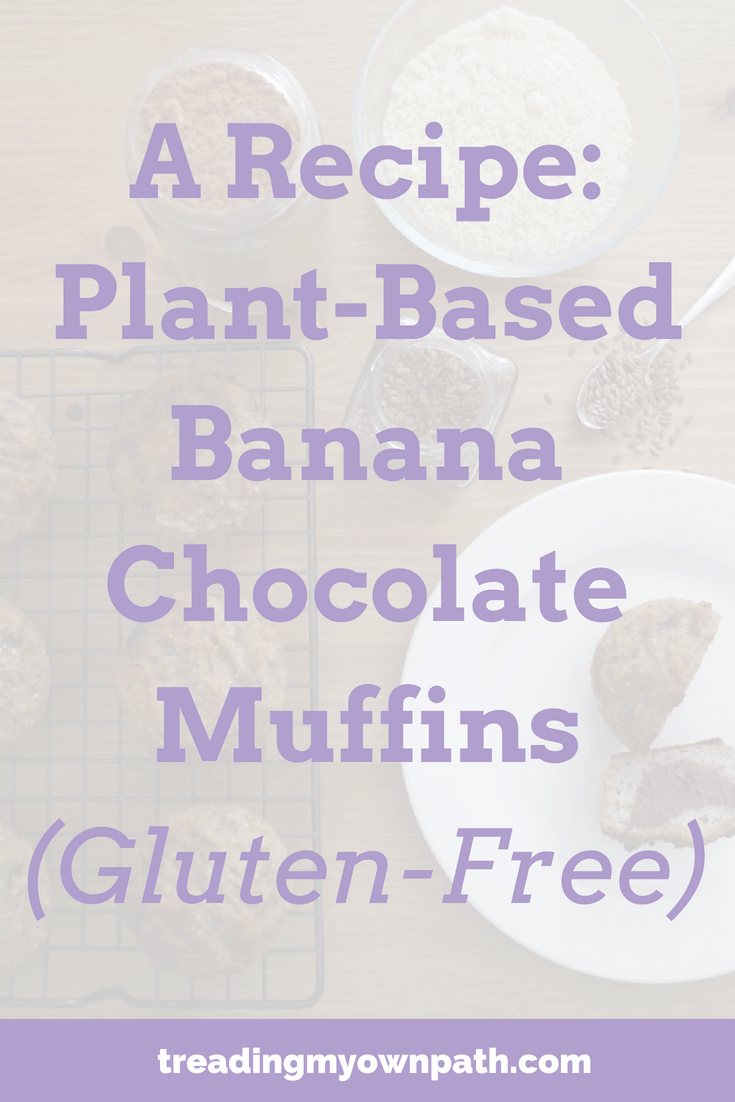 A Recipe: Plant-Based Banana Chocolate Muffins (Gluten-Free)