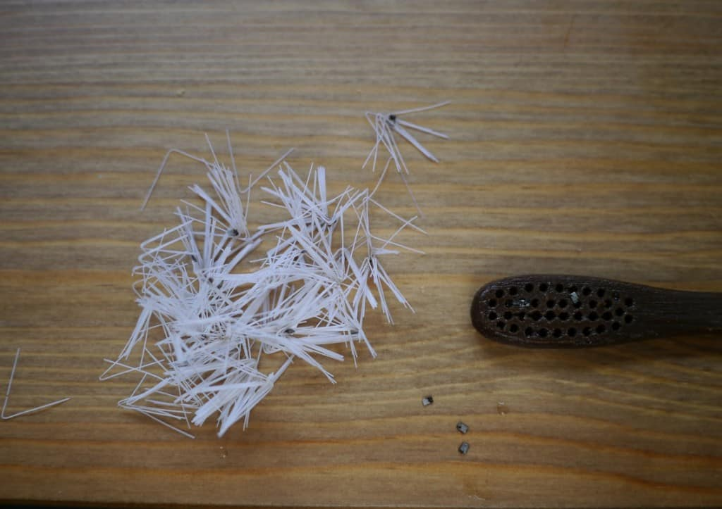 Bamboo toothbrush parts
