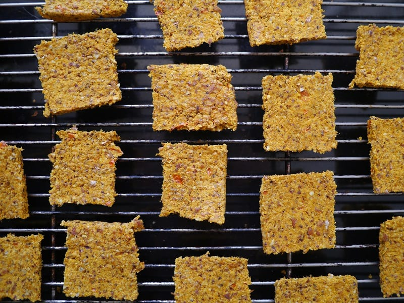 Carrot pulp crackers other batch