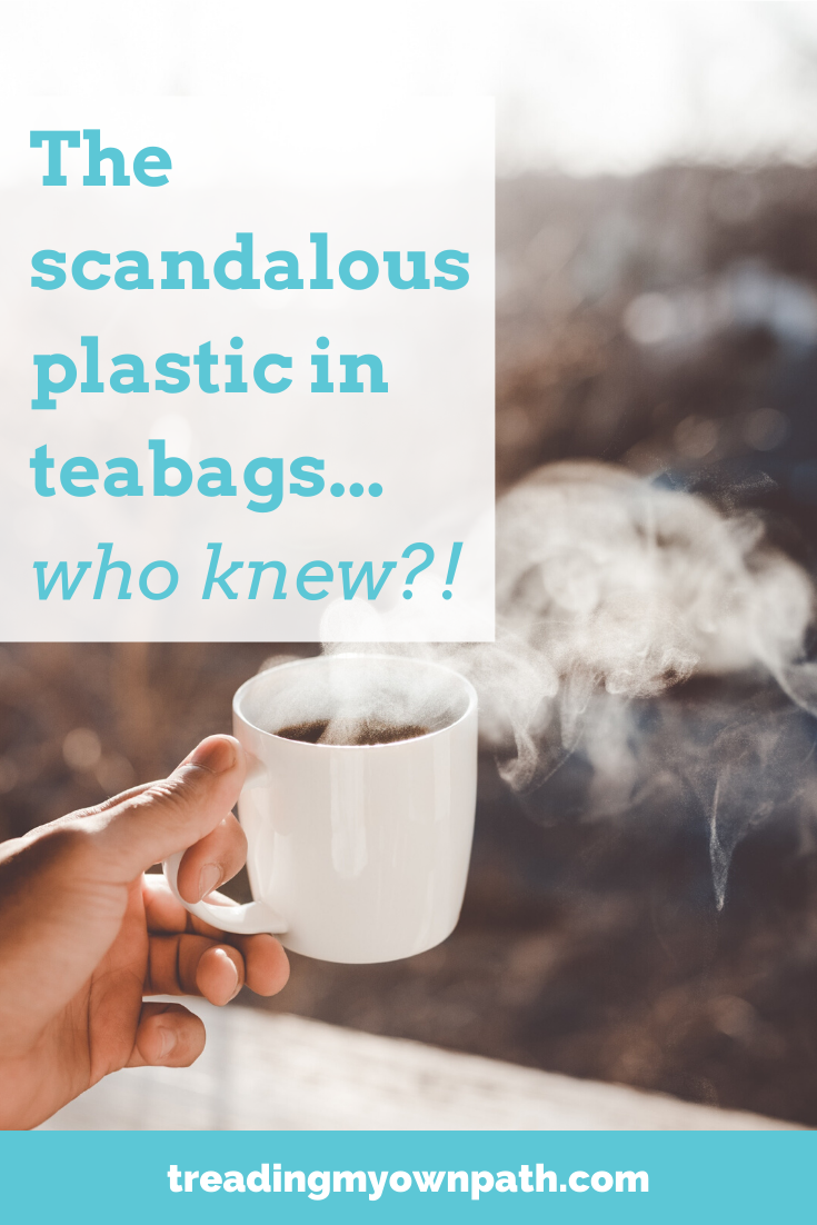 The scandalous plastic in teabags... who knew? from Treading My Own Path | Zero waste + plastic-free living | Less waste, less stuff, sustainable living. Plastic tea bags, are tea bags biodegradable, loose leaf tea, plastic microfibres in tea, plastic-free tea ideas, green living, easy green swaps, eco living, eco tips, zero waste tips, less waste kitchen, low waste kitchen. More at https://treadingmyownpath.com