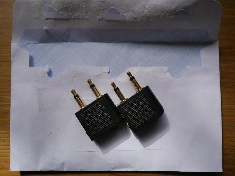 Airline headphone adaptors zero waste