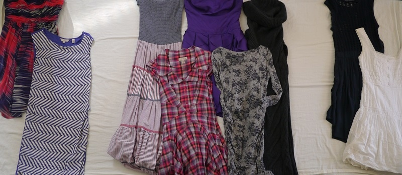 Dresses decluttered