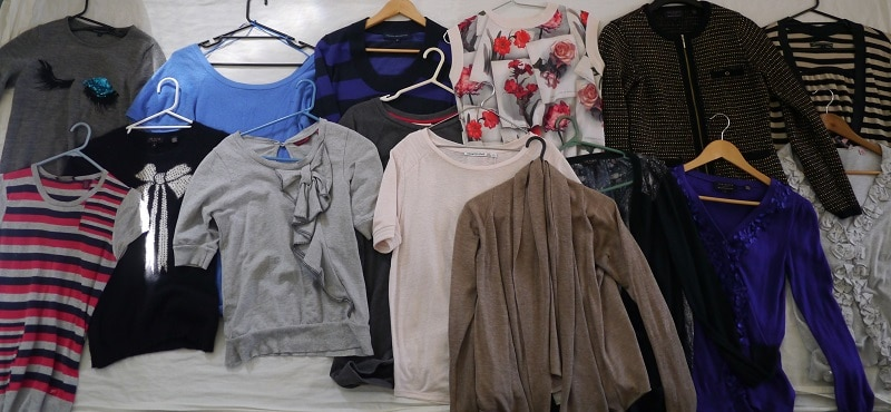 Jumpers cardigans decluttering