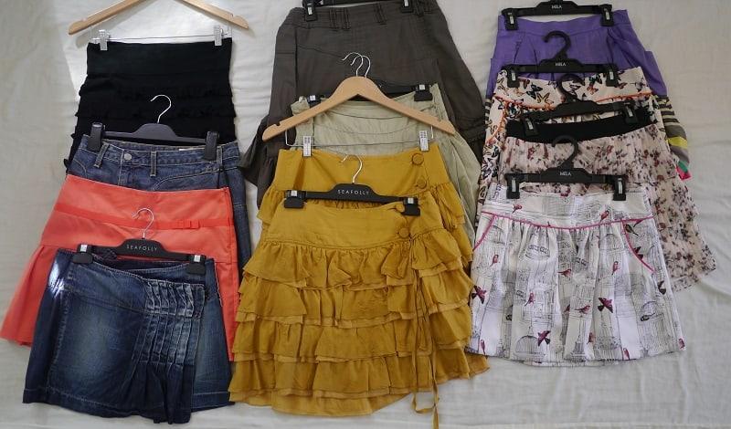 Skirts decluttering
