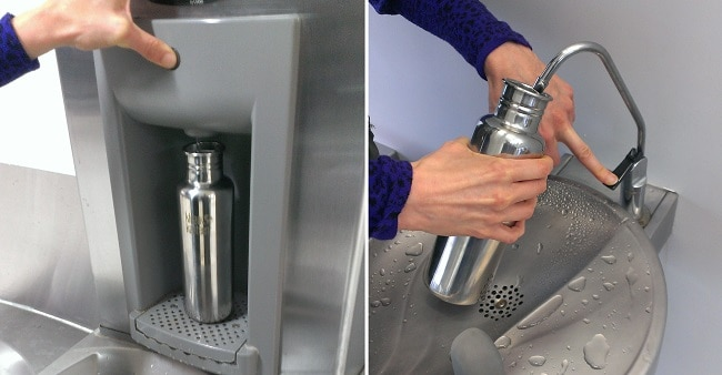 water bottle refill at airport