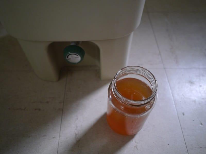 Bokashi bin drained liquid