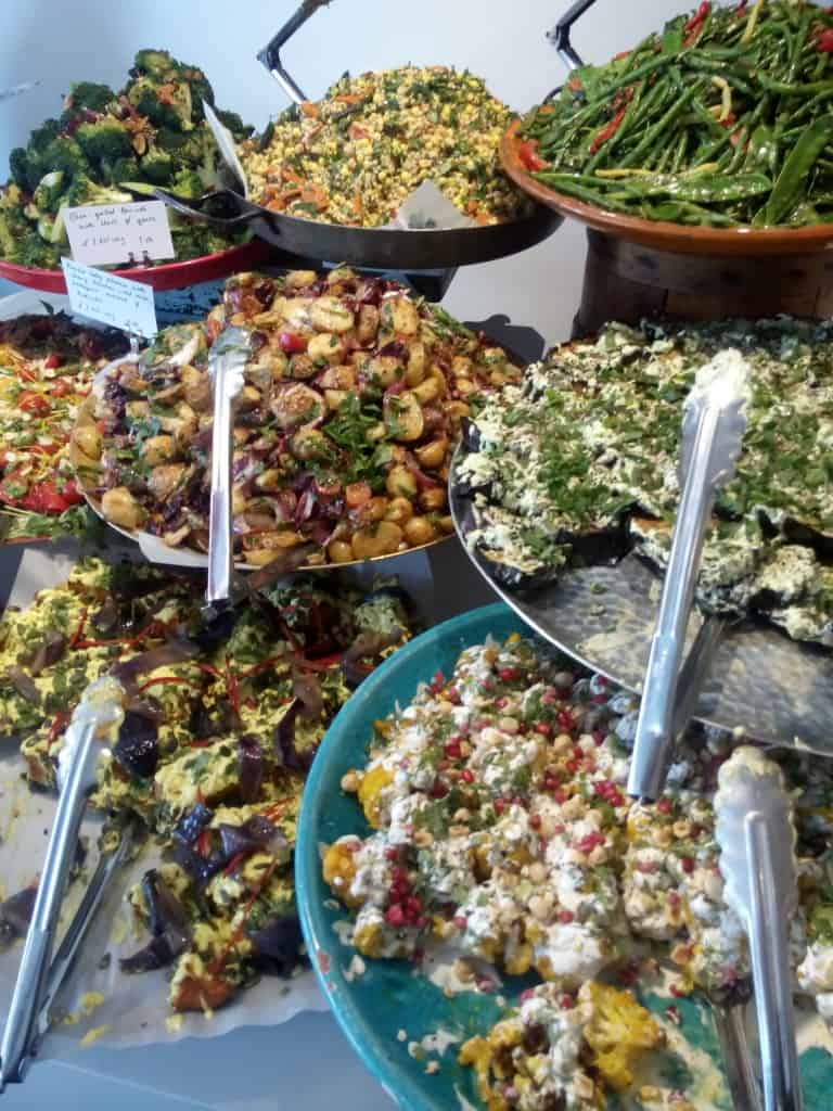 Ottolenghi London salad selection