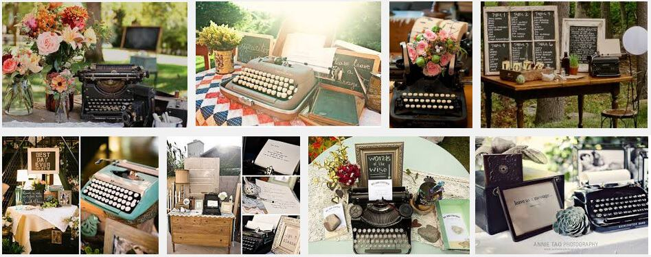 Retro typewriters at weddings - not something we chose to do for our own!