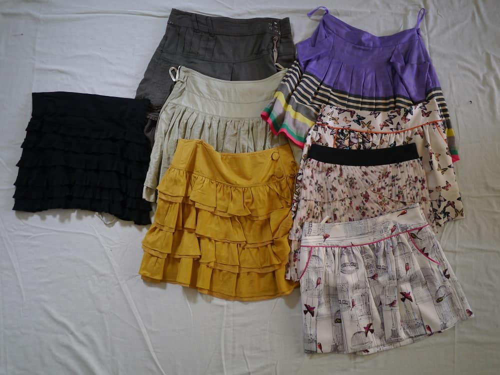 Wardrobe Decluttering Minimalism Skirts October 2015