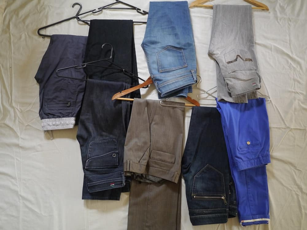 Wardrobe Decluttering Minimalism Trousers October 2015
