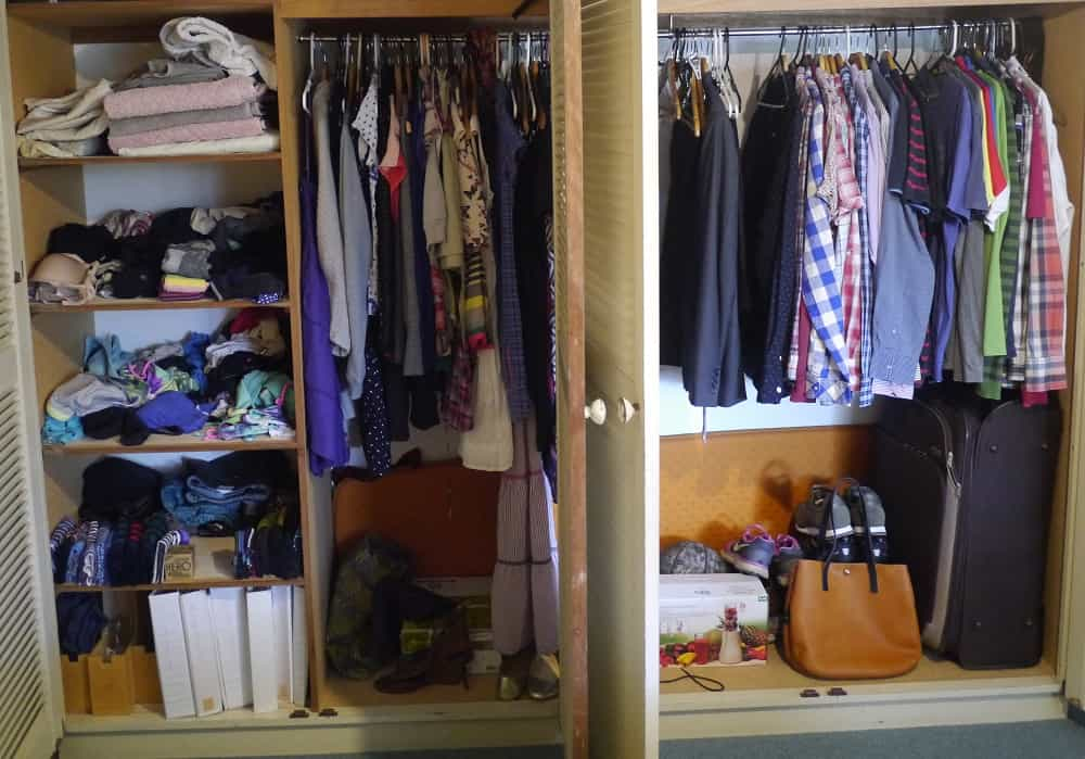 Wardrobe Pre Decluttering Oct 2015