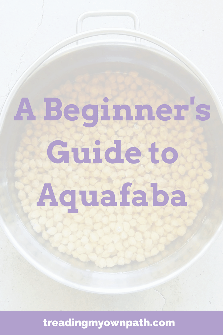 A Beginner\'s Guide To Aquafaba | Treading My Own Path | Zero Waste + Plastic-Free Living. Aquafaba is a vegan egg replacement and can be used to make aquafaba meringues, aquafaba brownies, plant-based recipes, vegan recipe. Zero waste kitchen, waste less in the kitchen, vegan egg alternative. Love food hate waste. More at https://treadingmyownpath.com
