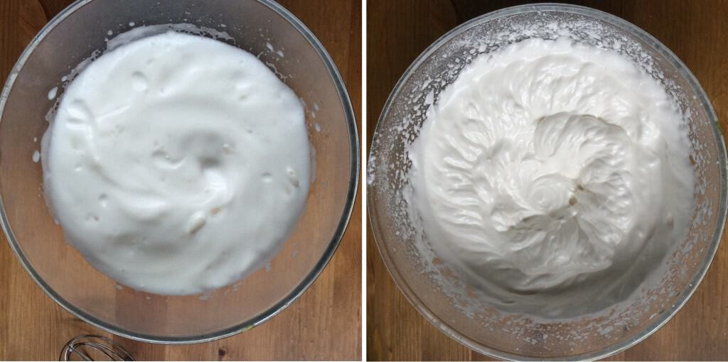 Whisking Aquafaba Before and After Adding Cream of Tartar and Sugar