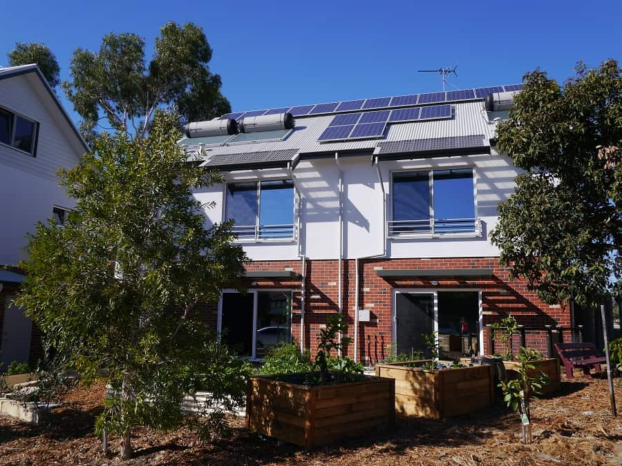 Solar Panels and Solar Hot Water Sustainable Home Green Swing