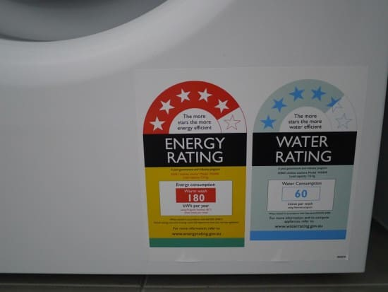 Washing Machine Star Energy Ratings