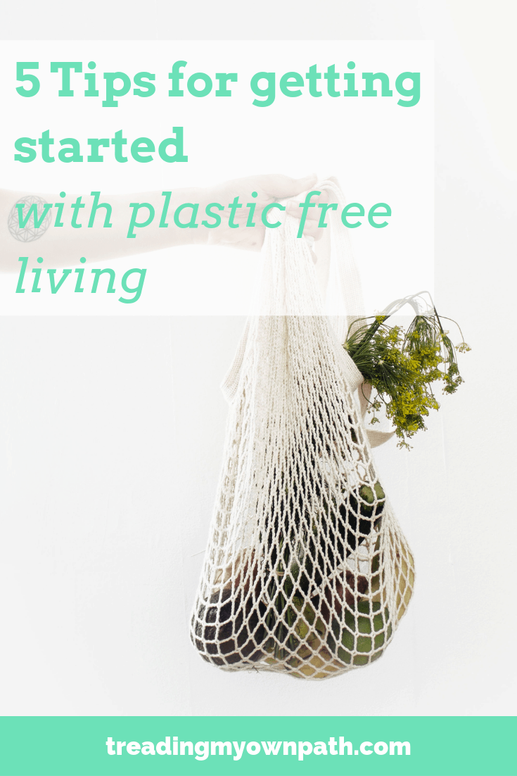 5 Tips for Getting Started with Plastic-Free Living from Treading My Own Path | Plastic-Free + Zero Waste Living | Less waste, less stuff, sustainable living. Tips for living plastic-free, plastic-free swaps, how to refuse single-use plastic, living green, plastic-free solutions, ideas to break up with plastic, changing habits, green living, eco living, sustainability, refuse plastic. #plasticfreejuly #choosetorefuse More at https://treadingmyownpath.com