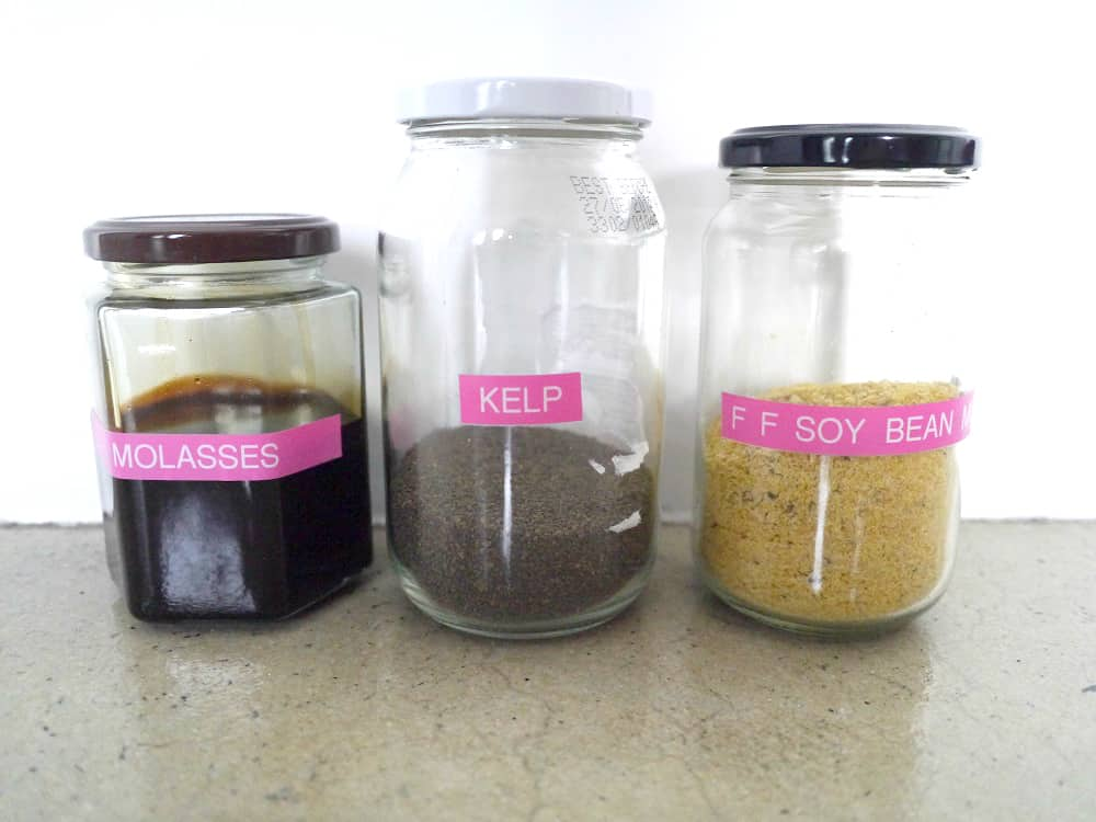 Zero Waste Gardening Kelp Soybean Meal Molasses Treading My Own Path