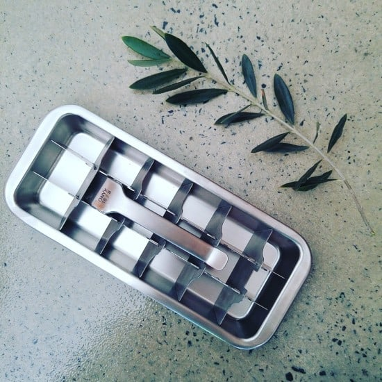 Onyx Stainless Steel Ice Cube Tray