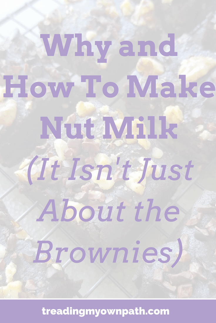 DIY Almond Milk + DIY Cashew Milk Recipes, and How To Make Brownies Using Leftover Almond Pulp | Treading My Own Path | Zero Waste + Plastic-Free Living. Vegan brownie recipe, aquafaba brownies, what to do with leftover almond pulp, almond pulp brownies, homemade nut mylk, plant-based brownies, vegan brownies, plant-powered recipe, zero waste kitchen, how to use up almond pulp, plant-based milk alternatives, reduce plastic in the kitchen. More at https://treadingmyownpath.com