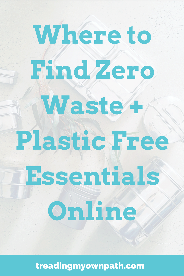 Where to Find Zero Waste + Plastic Free Essentials Online from Treading My Own Path | Zero Waste + Plastic-Free Living | Less waste, less stuff, sustainable living. Shop local, support local, support small business, eco-living, sustainable living, green living ,eco choices, eco lifestyle, sustainability, boycott Amazon, zero waste shopping, plastic-free stores, pass on plastic, break free from plastic. More at https://treadingmyownpath.com