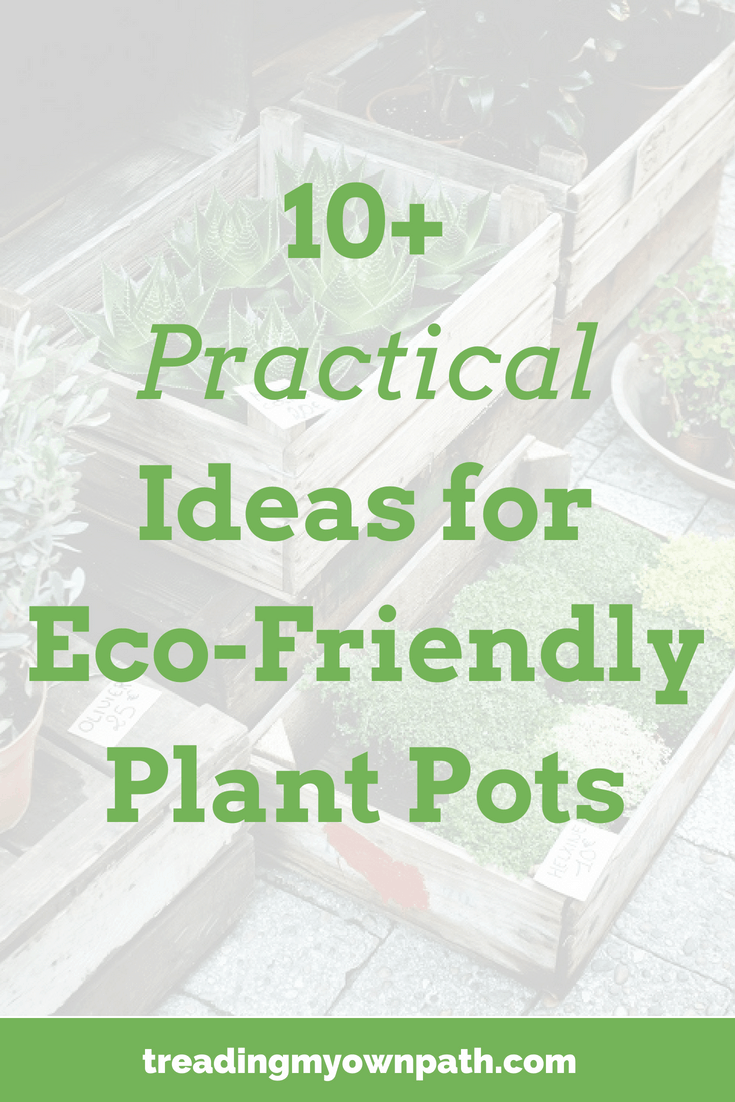 10+ Practical Ideas for Eco-Friendly Plant Pots by Treading My Own Path | Zero Waste + Plastic-Free Living | Less waste, less stuff, sustainable living. Grow food not lawns, share waste, growing food, urban gardening, grow vegetables, plastic-free gardening, zero waste gardening, permaculture principles, urban permaculture design. More at https://treadingmyownpath.com
