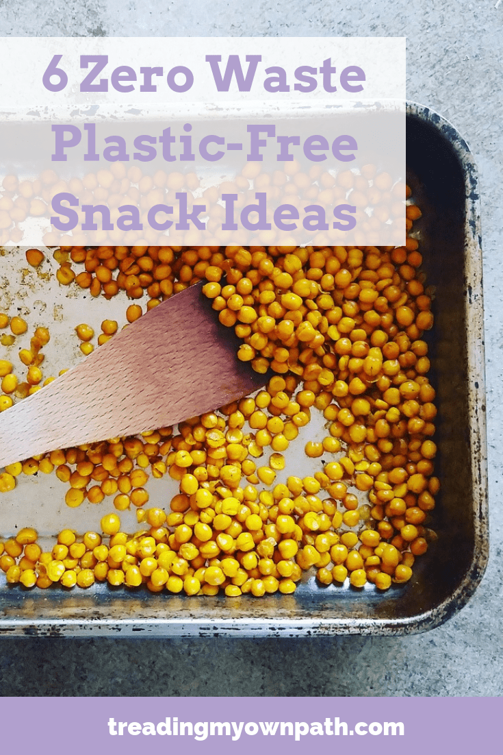 6 Zero Waste Plastic-Free Snack Ideas from Treading My Own Path | Zero Waste + Plastic-Free Living. DIY snacks, from scratch ingredients, zero waste kitchen, less plastic kitchen, plant-based snack ideas, vegan snacks zero waste, reduce packaging, love food hate waste, healthy low waste snacks. Low waste kitchen, less waste kitchen, low waste snacks, snacks without plastic packaging, reduce plastic waste. More at https://treadingmyownpath.com