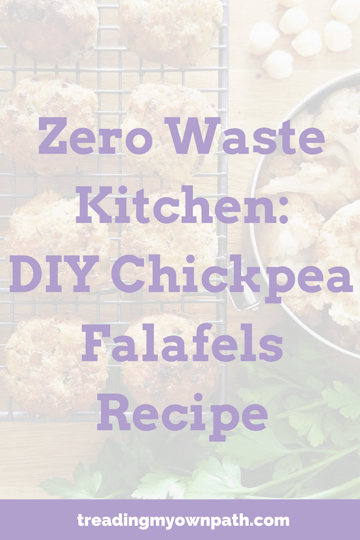 Zero Waste Kitchen: DIY Chickpea Falafels Recipe | Treading My Own Path | Zero Waste + Plastic-Free Living. Homemade falafels, chickpea recipe, DIY falafel, cooking with dried chickpeas, vegan falafels, reduce waste in the kitchen, recipes for chickpeas, plant-based kitchen ideas. More at https://treadingmyownpath.com